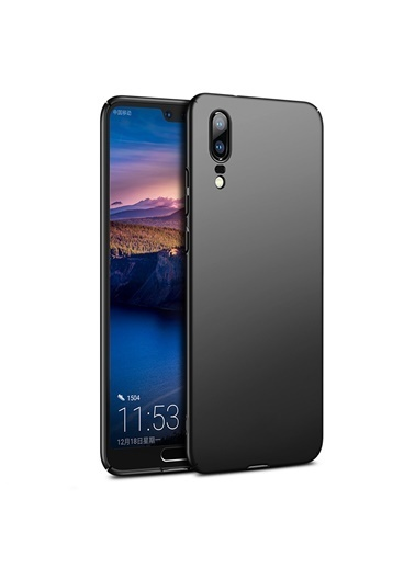 Microsonic Huawei P20 Kılıf Premium Slim Siyah Siyah